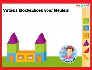 Online blokkenhoek voor kleuters, spelen op het digibord of op de computer,kleuteridee / Kindergarten online block area for IBW or computer