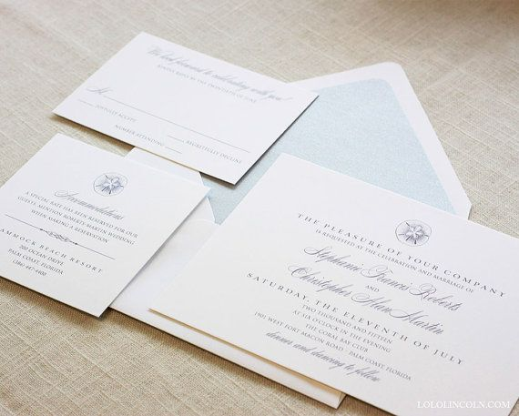Sand Dollar Wedding Invitation DEPOSIT to get di LoloLincoln