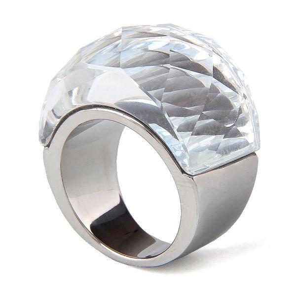 Commercio all'ingrosso Dell'acciaio Inossidabile Dei Monili di Cerimonia Nuziale Forniture Grandi Anelli di Zircon per le donne