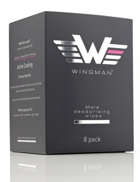 Wingman - male deodorising wipes