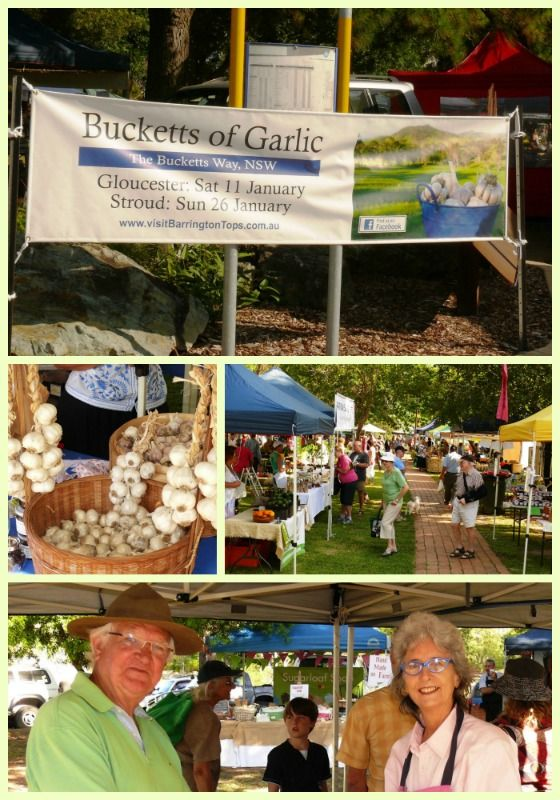 Bucketts of Garlic promotion - fabulous day at the Gloucester Farmer's Market. Promoting the district's garlic in all guises.