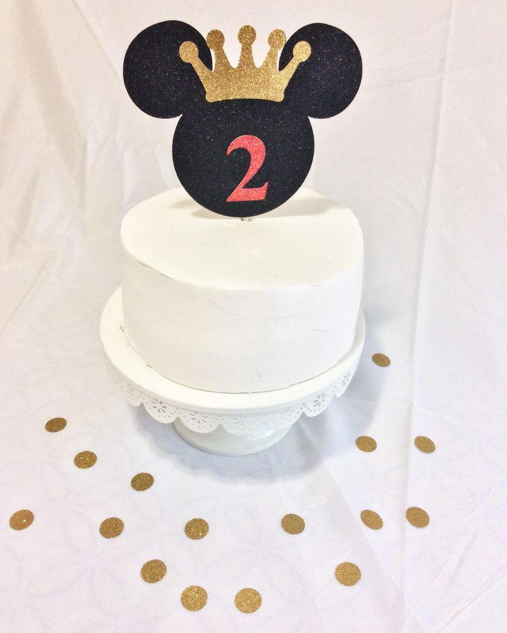 Etsy Mickey Ears Love Wedding Cake Topper