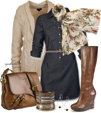 clothes. jeans dress, sweater,