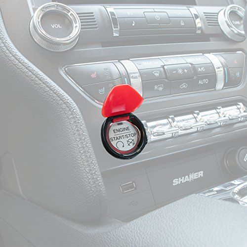 Yoursme Engine Start Stop Button Cover Red ABS Push Switch Interior Cover Trim for 2015 2016 2017 Ford Mustang. For product info go to:  https://www.caraccessoriesonlinemarket.com/yoursme-engine-start-stop-button-cover-red-abs-push-switch-interior-cover-trim-for-2015-2016-2017-ford-mustang/