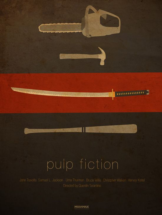 Poster Pulp Fiction by Ibraheem Youssef