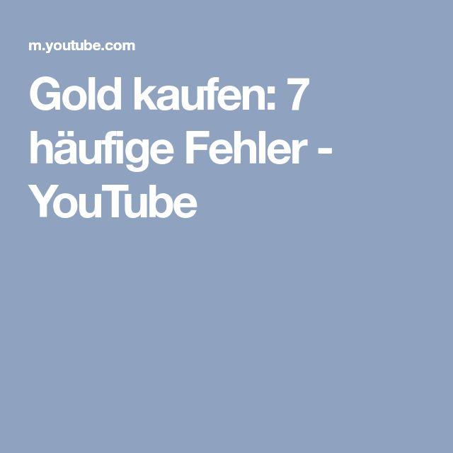 Gold kaufen: 7 häufige Fehler - YouTube