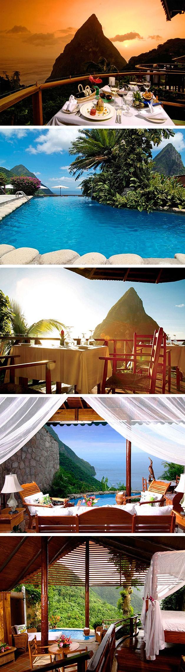 Resort Ladera – Santa Lúcia, Caríbe.