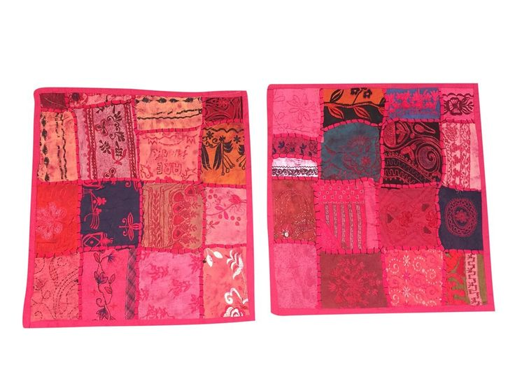 Mogul Ethnic Cushion Cover cotton Patchwoek Pink Toss Pillow Cases Home Décor Idea: Amazon.ca: Home & Kitchen  #cushioncover #christmasdecor