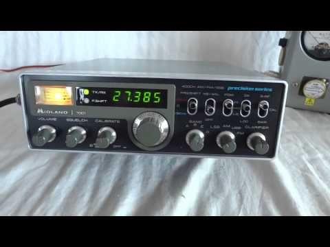 Vintage Midland 7001 Precision Series CB radio sidebander - YouTube