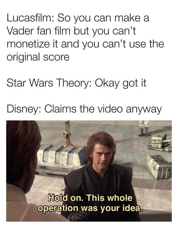 A Twist Humour Spot Star Wars Theories Star Wars Song Star Wars Memes
