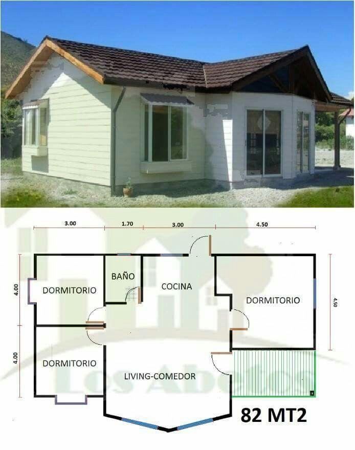 Pin de fressy zamora en arqui y dise o pinterest for Planos de casas pequenas y bonitas
