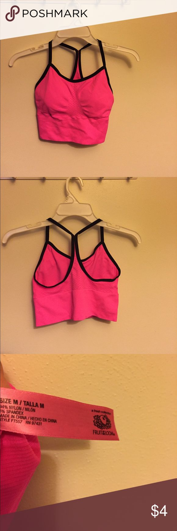 Fruit of the Loom Sports Bra - medium Fruit of the Loom Sports Bra - medium 🌸GUC🌸 worn once. Was not the right size for my daughter. Fruit of the Loom Other