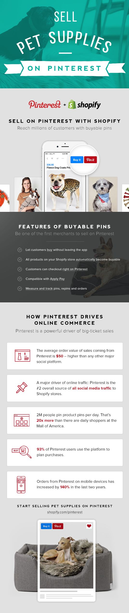Sell pet supplies on Pinterest with Buyable Pins