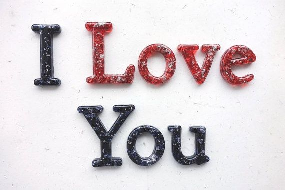 READY TO SHIP 'I Love You' wall phrase in Black by WordosaurusText, $60.00