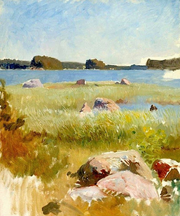 ALBERT EDELFELT Study, In the Archipelago
