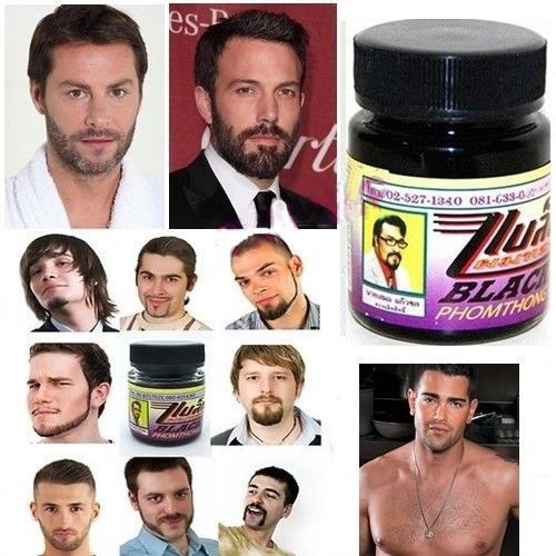 Natural Facial Hair Beard Growth Cream Fast Grow Mustache Eyebrow Sideburns