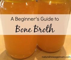 A beginner's guide to bone broth. What is bone broth? Why is it good for you? How do you use it? How do you store it? And a basic recipe.