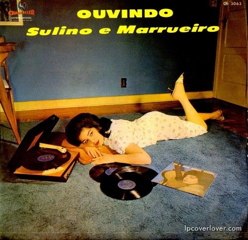 Ouvindo Sulino e Marrueiro Chanticleer Records (Brazil) Click on the cover to make it bigger. Check out her cool mod 50's turntable.
