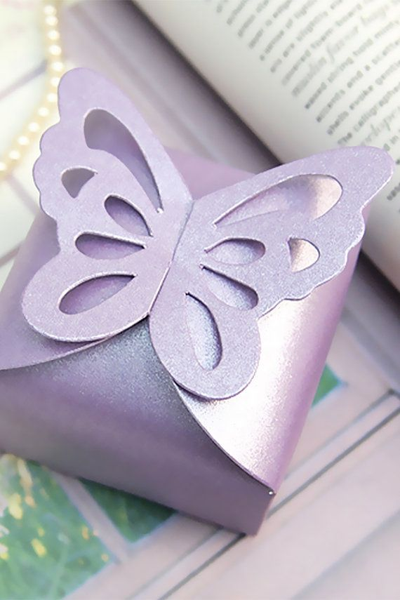 100 Butterfly Favor Boxes-Pastel Pink Candy by LingsWedding