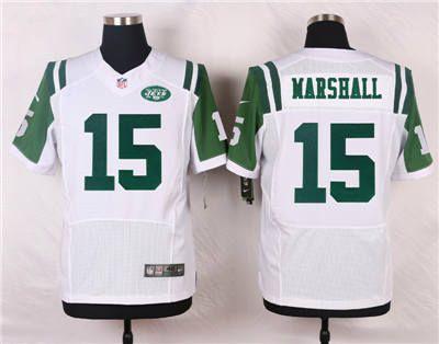 bed707f9846a6 ... Nike New York Jets 15 Brandon Marshall White Elite Jersey ...