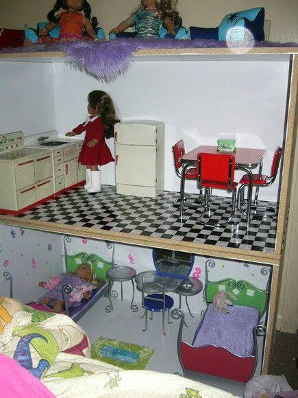 77 best DIY Kitchen- inspiration for American Girl Dollhouse ...