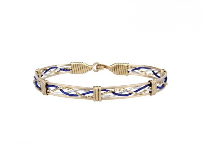Handcrafted in the USA, this beautiful bracelet made from 14k gold. Police Officers put their lives on the line everyday to protect the communities they serve. Ronaldo's THIN BLUE LINE - HERO bracelet