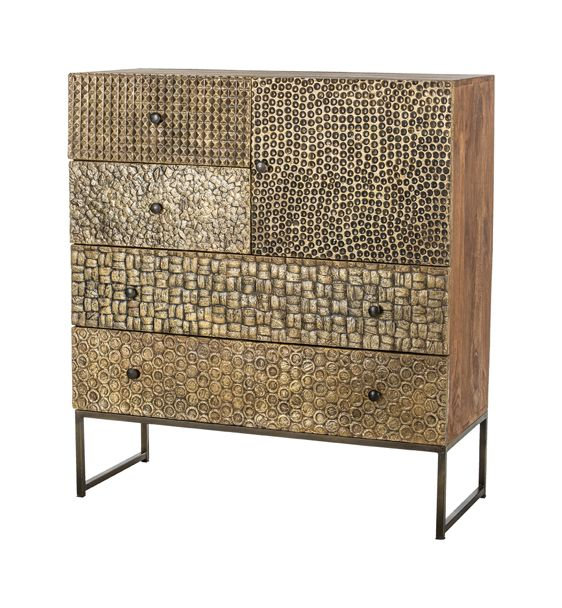 Dressoir Orna Gold 100cm van Mysons in unieke gouden kleur cabinet