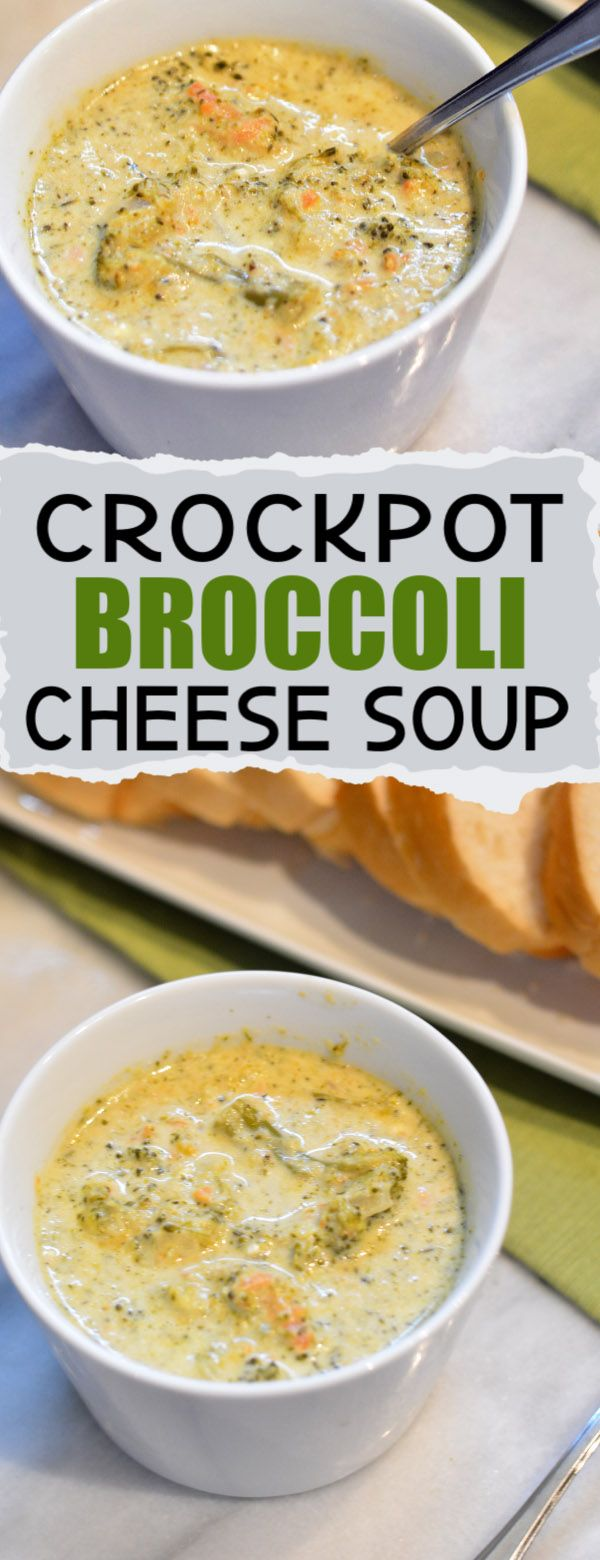 Crockpot broccoli cheddar soup is an easy homemade…