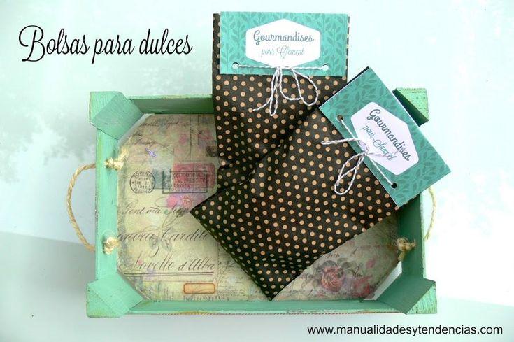 ¿Te gusta preparar y regalar dulces? Pues también puedes elaborar estas bolsitas para entregarlos de una forma más especial.