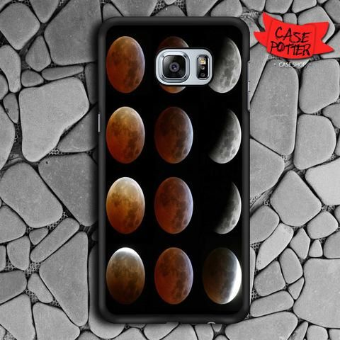 Moon Phases Samsung Galaxy S6 Edge Black Case