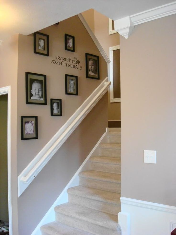 Stairway wall decorating ideas staircase contemporary with ...