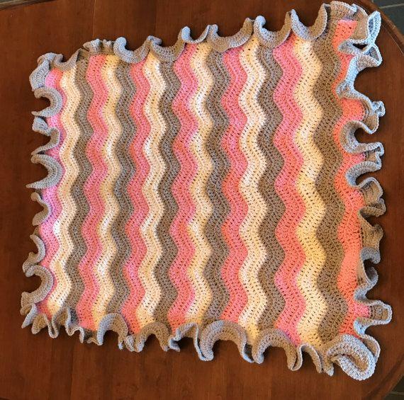 Crochet baby blanket girl baby blanket-baby by CrochetedbyCari