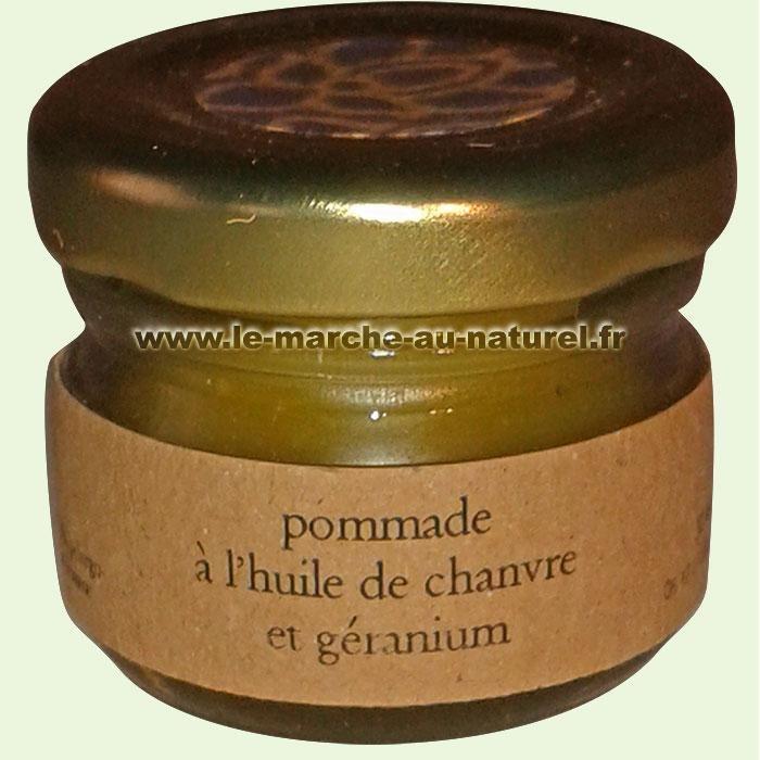 Pommade à l'Huile de Chanvre Géranium Bio 30 ml Canna d'Oc