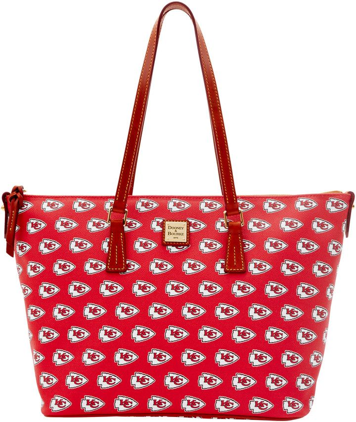 Dooney & Bourke NFL Chiefs Zip Top Shopper Tote