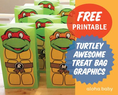 aloha baby: Aloha Turtley Awesome Treat Bags!
