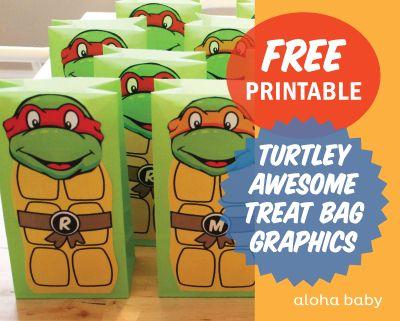 aloha baby: Aloha Turtley Awesome Treat Bags!
