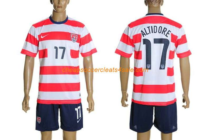 buy cheap nike United States american National team 2012-2013 Josmer Volmy Jozy Altidore number 17 soccer jerseys home red white
