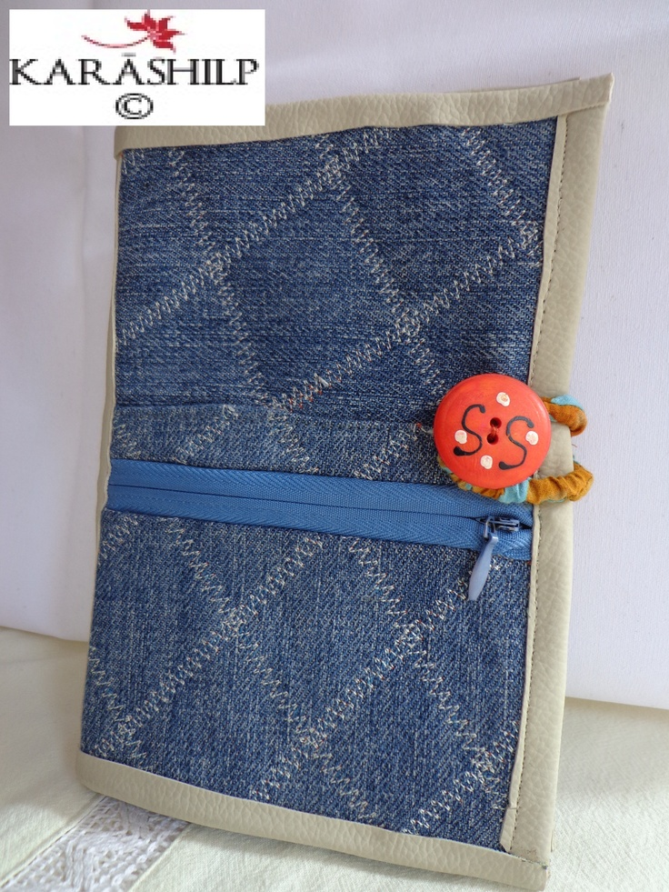 An old pair of jeans made into a kindle cover by Karashilp :)