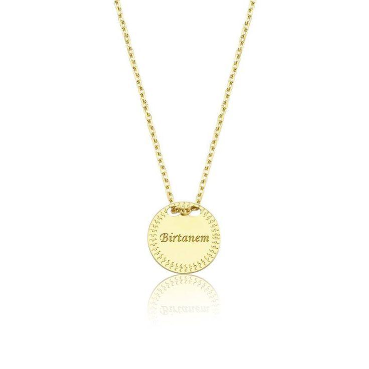 """Altın """"Birtanem"""" Kolye #altınbaşlife #kolye #altın #takı #tasarım #hediye #gift"""