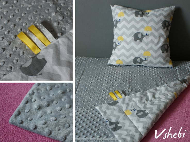 This grey Chevron blanket is perfect for both baby girl and baby boy. One side of the blanket is made with cuddlesoft Minky fabrics and the other with cute, elefant printed cotton. Our blanket can be a great addition to your nursery bedding. It's perfect as warm, cosy stroller blanket to comfort your child during cool, autumn days.