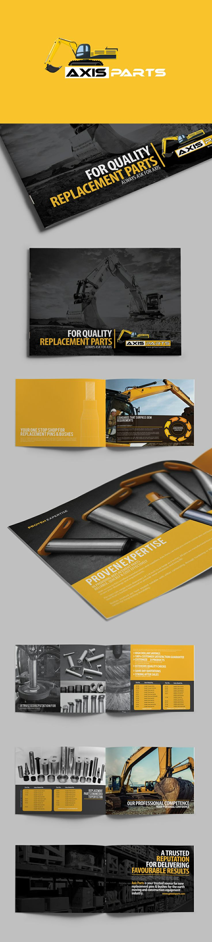 Axisparts brochure by Lemongraphic (via Creattica)
