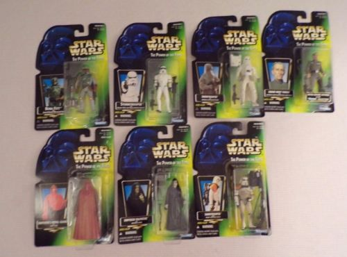 7 Star Wars Power of the force figures Boba Fett Sandtrooper Tarkin Snowtrooper