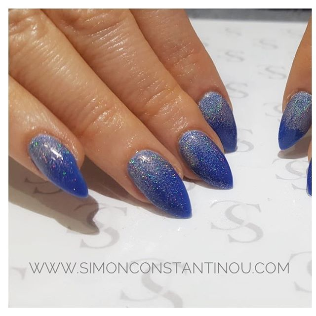 True Blue Baby I love you! Loving these Cobalt Blue Acrylic Nail
