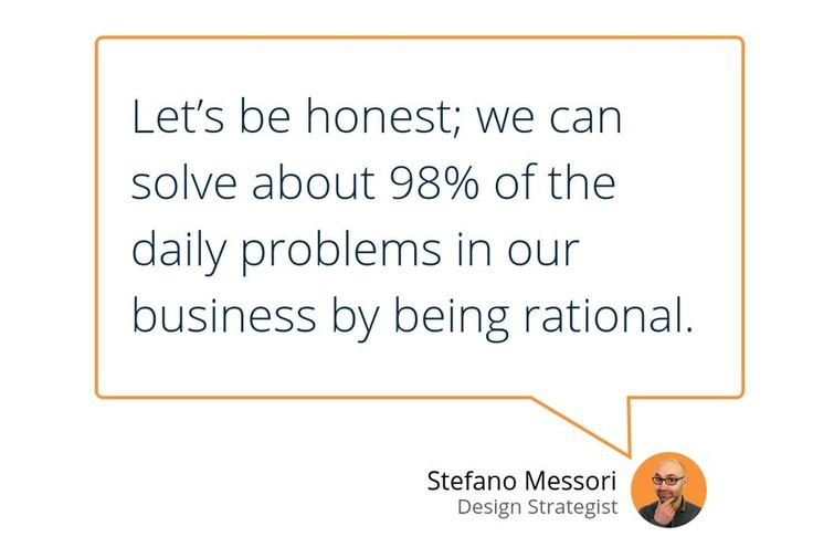 """""""Rational thinking is the base for incremental innovation and occurs when managers adopt the latest best practices and technologies emerging in the industry.""""  #StrategicDesign #Innovation #Business #Growth #Creativity #DesignThinking"""