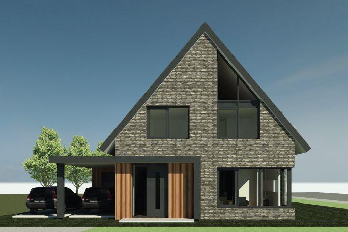 Nieuwbouwwoning Tag West te Genemuiden | Ontwerp van AL architecten BNA voor en vrijstaande woning in Plan Tag West, Genemuiden.