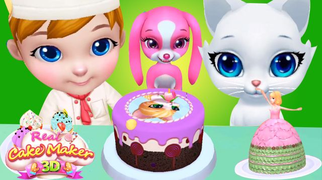 Real Cake Maker 3D Games For Kids.  Video Link: https://www.youtube.com/watch?v=x4IdrynKVyI