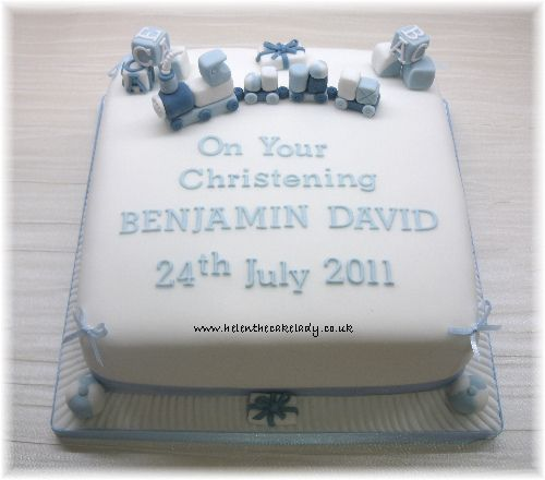 Christening cake Train | I was asked to do a Christening cak… | Flickr