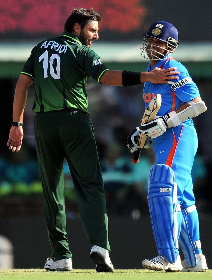 India-Pakistan cricket match... We'll miss you in the Champions Trophy Afridi