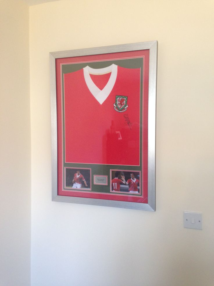 This signed Wales Football shirt was bought in to be framed by our master framers!