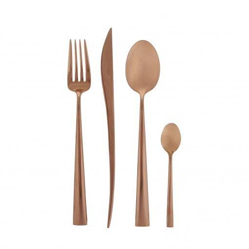cutlery cutlery set flatware luxury wedding gifts copper wedding ...